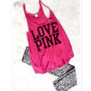 V.S. PINK Love Pink Workout Tank